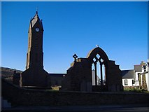 SC2484 : Ruins of St. Peter's Church, Peel by kevin rothwell