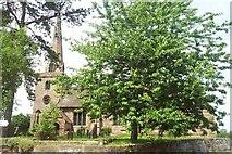 SJ8417 : St Editha's Church, Church Eaton by Geoff Pick