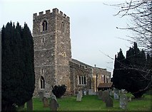 TL1344 : St Leonard's Church, Old Warden. by Robin Hall