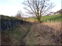 SE1421 : Old lane off Toothill Bank, Rastrick, Yorkshire by Humphrey Bolton