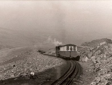 SH6054 : Snowdon Train by Eirian Evans