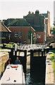 SU4767 : Newbury Lock and Newbury Bridge by Pierre Terre