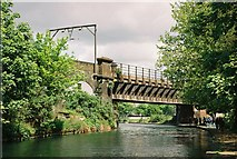 TQ3681 : LTSR crosses Regent's Canal by Pierre Terre