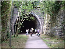 SK1746 : The tunnel at the start of the Tissington Trail, Ashbourne by Oliver Dixon