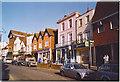 TQ1649 : Raised Pavement, Dorking High Street. by Colin Smith
