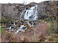 NG5637 : Waterfall in Raasay Forest by John Allan
