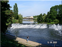 SO8453 : Diglis weir Worcester by Andrew Darge