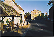 SP4416 : Woodstock, Stocks and Town Hall. by Colin Smith