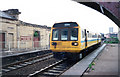 NZ3957 : Train passing through Monkwearmouth Station Museum, Sunderland, 1994. by Martin Routledge