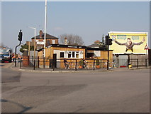 TQ2081 : Cafe by Acton Mainline Station by David Hawgood