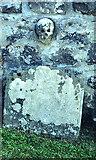 NO8685 : Gravestone in Dunnottar kirk by Peter Ward
