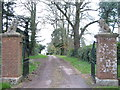 SY0394 : Entrance to Rockbeare Manor by Derek Harper
