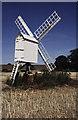 SP4536 : Post Mill by Bloxham Grove Farm by Chris Allen