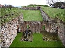 NT9953 : Berwick town walls. by Richard Webb