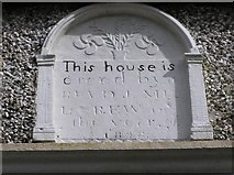 H6058 : Glencull former Parochial House plaque by Kenneth  Allen