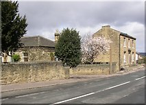 SE1421 : Lodge and house, Rastrick Common, Rastrick by Humphrey Bolton