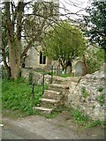 SP7006 : Stone steps, St. Mary's, Thame by Rob Farrow