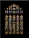 SP1106 : Stained Glass Window : Church at Bibury by Pam Brophy