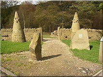 SE1025 : Top entrance to dry stone wall exhibition, Shibden Park, Southowram, Halifax by Humphrey Bolton