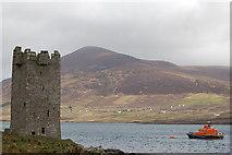 L7294 : Carrickkildavnet Castle, Achill Sound by Albert Bridge