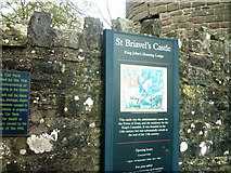 SO5504 : St Briavels Entrance Sign by chestertouristcom