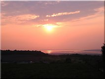 SJ5175 : Sunset over Mickledale and the Mersey Estuary by David Crocker