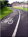 ST6677 : Cycle Path in Vinny Green by Linda Bailey
