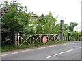 TL4165 : Level crossing gate, Oakington, Cambs by Rodney Burton