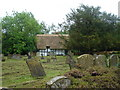 SU5794 : Thatched cottage in churchyard of Dorchester Abbey by Margaret Clough