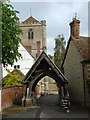 SU5794 : Dorchester Abbey lychgate by Margaret Clough