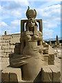 TQ3303 : Sand Sculpture, Black Rock by Simon Carey