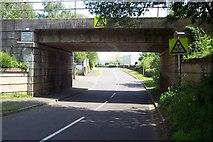 SJ9108 : Railway Bridge near Four Ashes Industrial Estate by Geoff Pick