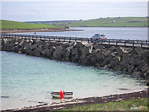 ND4798 : Churchill Barrier no 3, high tide by Lis Burke