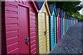 SH3331 : Beach huts at Llanbedrog beach by Iain Macaulay