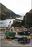 SW9339 : Fishing boats on Portloe slipway by Bob Jones