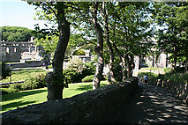 SM7525 : St David's: overlooking the cathedral and bishop's palace by Martin Bodman