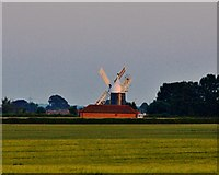 SK7371 : Windmill north of Tuxford by Toby Speight