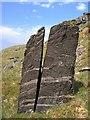 SH6535 : Split boulder on the side of Moel Ddinas by Rudi Winter