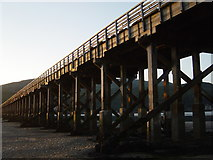 SH6214 : Barmouth Bridge at low tide by Hugh Chevallier