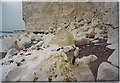 TV5595 : Fresh Chalk Cliff-fall Below Belle Tout. by Colin Smith