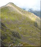 NN1454 : Stob Coire nan Lochan, rising from a lochan-studded  valley by Espresso Addict
