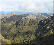 NN1454 : Panorama from Stob Coire nan Lochan, east view by Espresso Addict