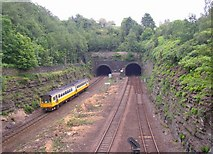 SE1316 : Tunnel portals, Springwood, Marsh (Huddersfield) by Humphrey Bolton