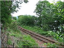 NN1127 : Railway line near Lochawe village. by Johnny Durnan