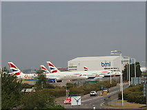 TQ0975 : Airliners on the ground, Heathrow by David Hawgood