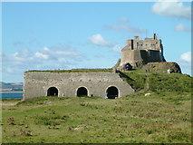 NU1341 : Lindisfarne Castle - Lime Kilns by Ian Knox