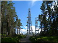 NH6243 : Radio masts on Dunain Hill by Danny P Robinson