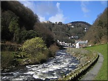 SS7249 : River Lyn and Lynmouth by Rupert Fleetingly