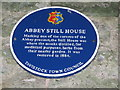 Photo of Abbey Still House blue plaque