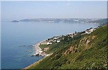 SX3354 : View from Batten Cliffs, Looe Bay by Tony Atkin